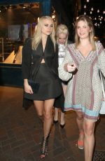 PIXIE LOTT and ALEXIS KNOX Leaves Cirque Le Soir Night Club in London