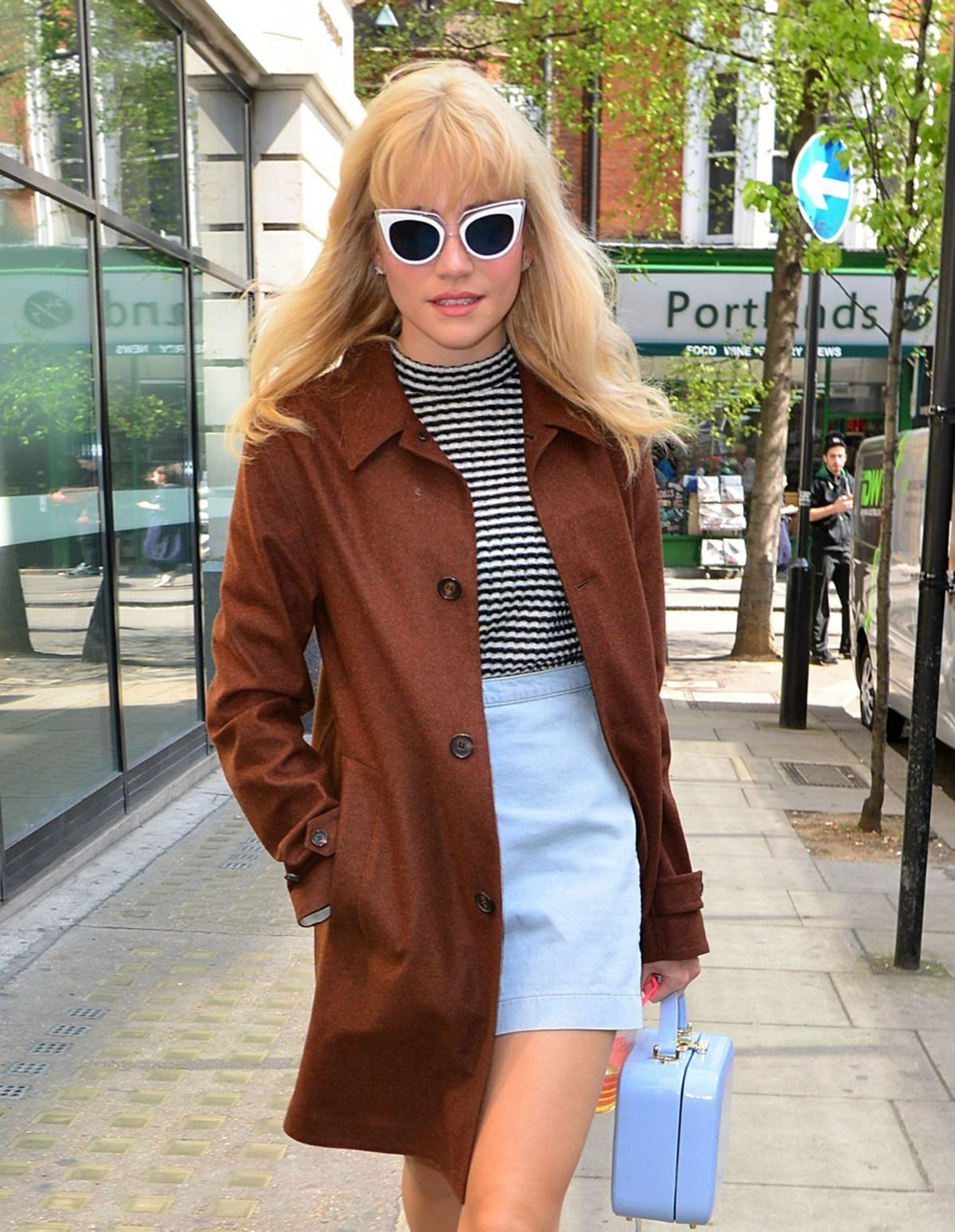 PIXIE LOTT Arrives at BBC Studios in London 04/20/2015
