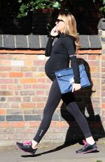 Pregnant ABIGAIL ABBEY CLANCY Heading to a Gym in London 04/27/2015