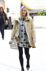 Pregnant Fearne Cotton Arrives at BBC Radio 1 in London