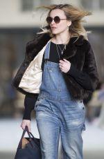 Pregnant FERANE COTTON Arrives at BBC Radio 1 in London