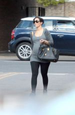 Pregnant FRANKIE SANDFORD Out and About in London 04/28/2015