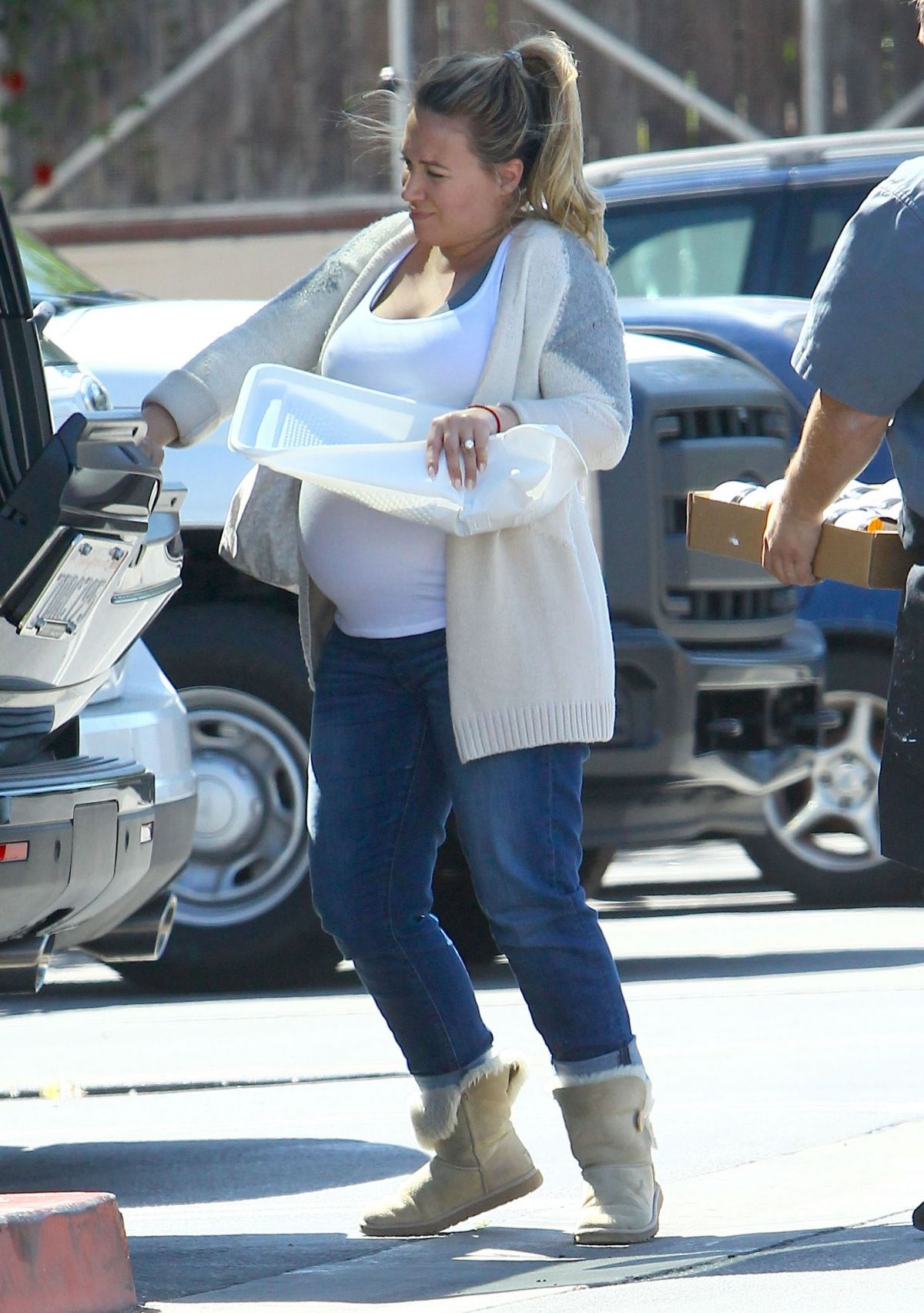 Pregnant HAYLIE DUFF Out and About in Beverly Hills ...