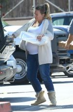 Pregnant HAYLIE DUFF Out and About in Beverly Hills