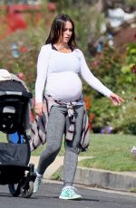 Pregnant JENNIFER LOVE HEWITT Out and About in Los Angeles 04/23/2015