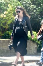 Pregnant KEIRA KNIGHTLEY Out in North London