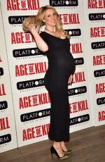 Pregnant REBECCA FERIDNANDO at Age of Kill Private Screening in London