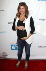 Pregnant TIFFANI THIESSEN at Milk + Bookies 2015 Story Time Celebration in Los Angeles