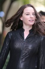 RACHEL NICHOLS on the Set of Continuum in Vancouver