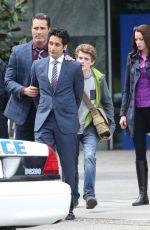 RACHEL NICOLS on the Set of Continuum in Vancouver 04/21/2015
