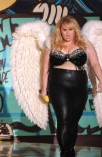 REBEL WILSON at 2015 MTV Movie Awards in Los Angeles
