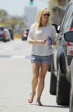 REESE WITHERSPOON inShorts Out Shopping in Beverly Hills 04/18/2015