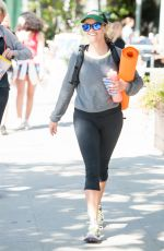 REESE WITHERSPOON Leaves a Hym in Brentwood