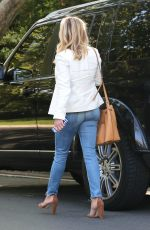 REESE WITHERSPOON Leaves Her New House in Pacific Palisades
