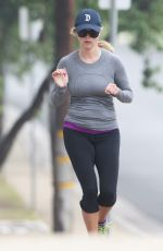 REESE WITHERSPOON Out Jogging in Brentwood