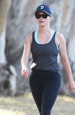 REESE WITHERSPOON Out Walking in Brentwood  04/29/2015