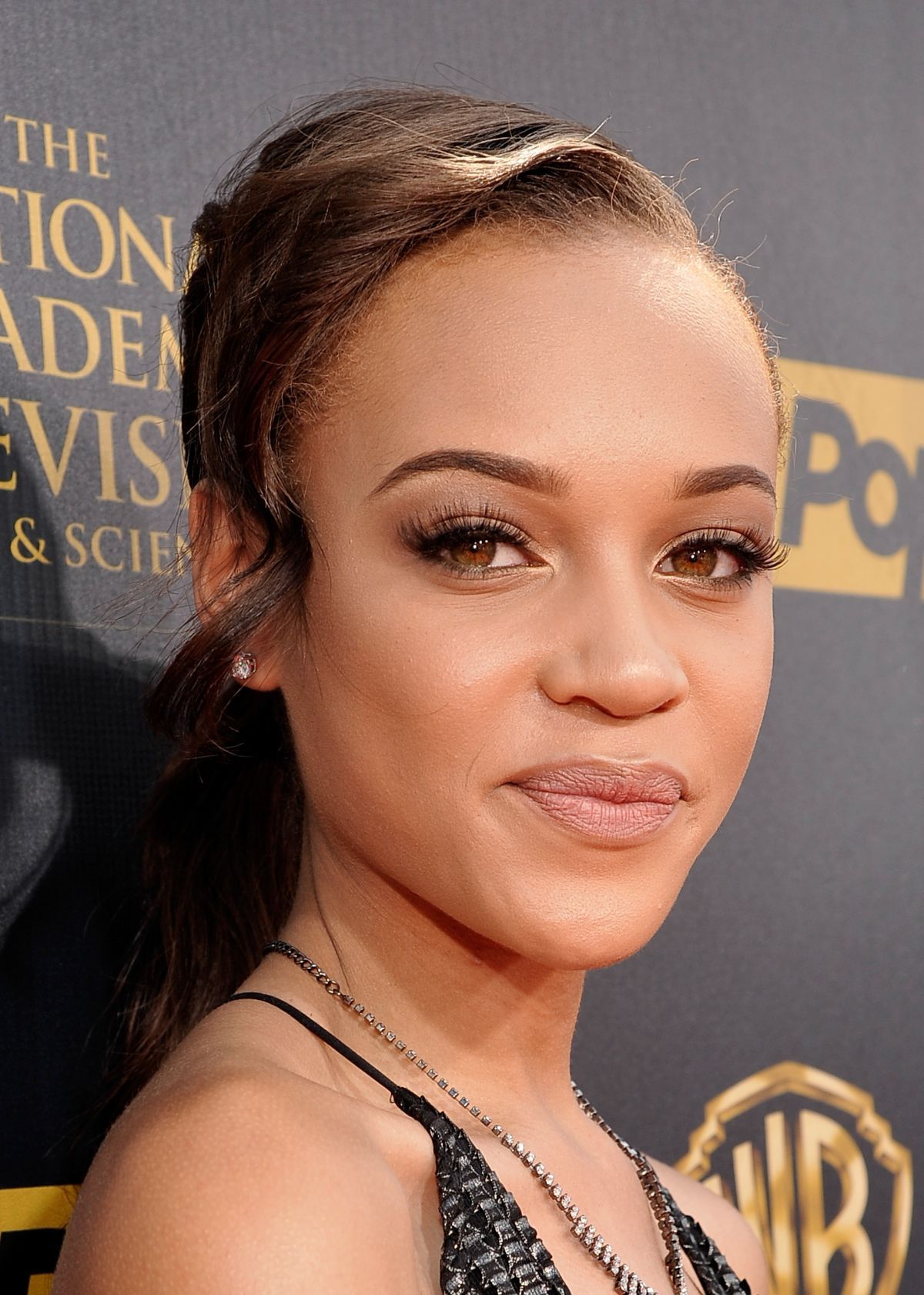 REIGN EDWARDS at 2015 Daytime Emmy Awards in Burbank