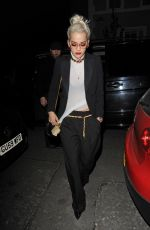 RITA ORA Arrives at Groucho Club in London 04/23/2015