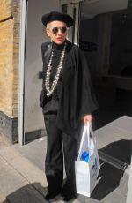 RITA ORA in Black Suit Out in London