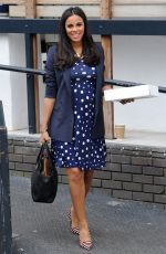 ROCHELLE HUMES Heading to a Spa in London