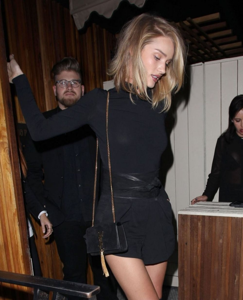 ROSIE HUNTINGTON-WHITELEY Night Out in West Hollywood