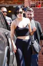 RUMER WILLIS Arrives at Dancing with the Stars Rehearsals in Hollywood 04/17/2015