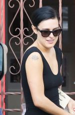RUMER WILLIS Arrives at Dancing with the Stars Rehersal in Hollywood 04/29/2015