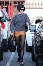 RUMER WILLIS Leaves DWTS Rehearsals in Hollywood