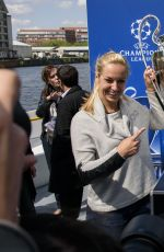 SABINE LISICKI at UEFA Champions League Trophy Tour in Berlin