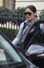 SALMA HAYEK Leaves a London Clothing Store 04/22/2015