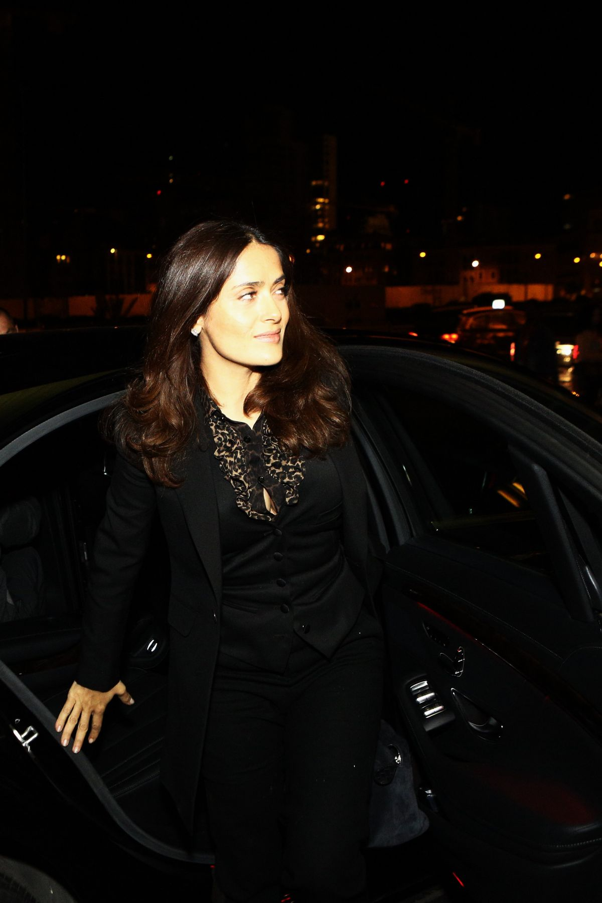 SALMA HAYEK Out and About in Beirut