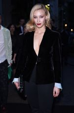 SARAH GADON at Giorgio Armani 40th Anniversary Boutique Cocktail Reception in Milan