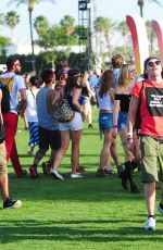 SARAH HYLAND at 2015 Coachella Music Festival, Day 1
