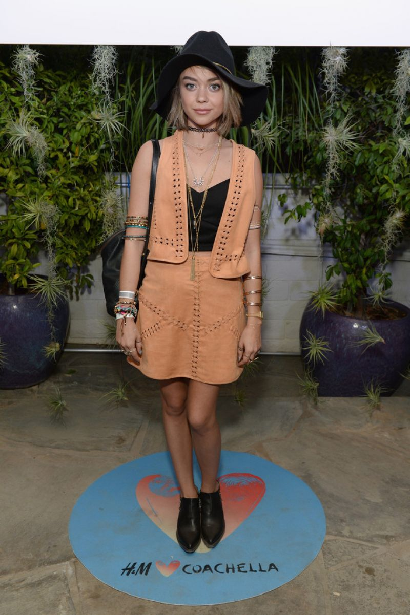 SARAH HYLAND at Official H&M Loves Coachella Party in Palm Springs