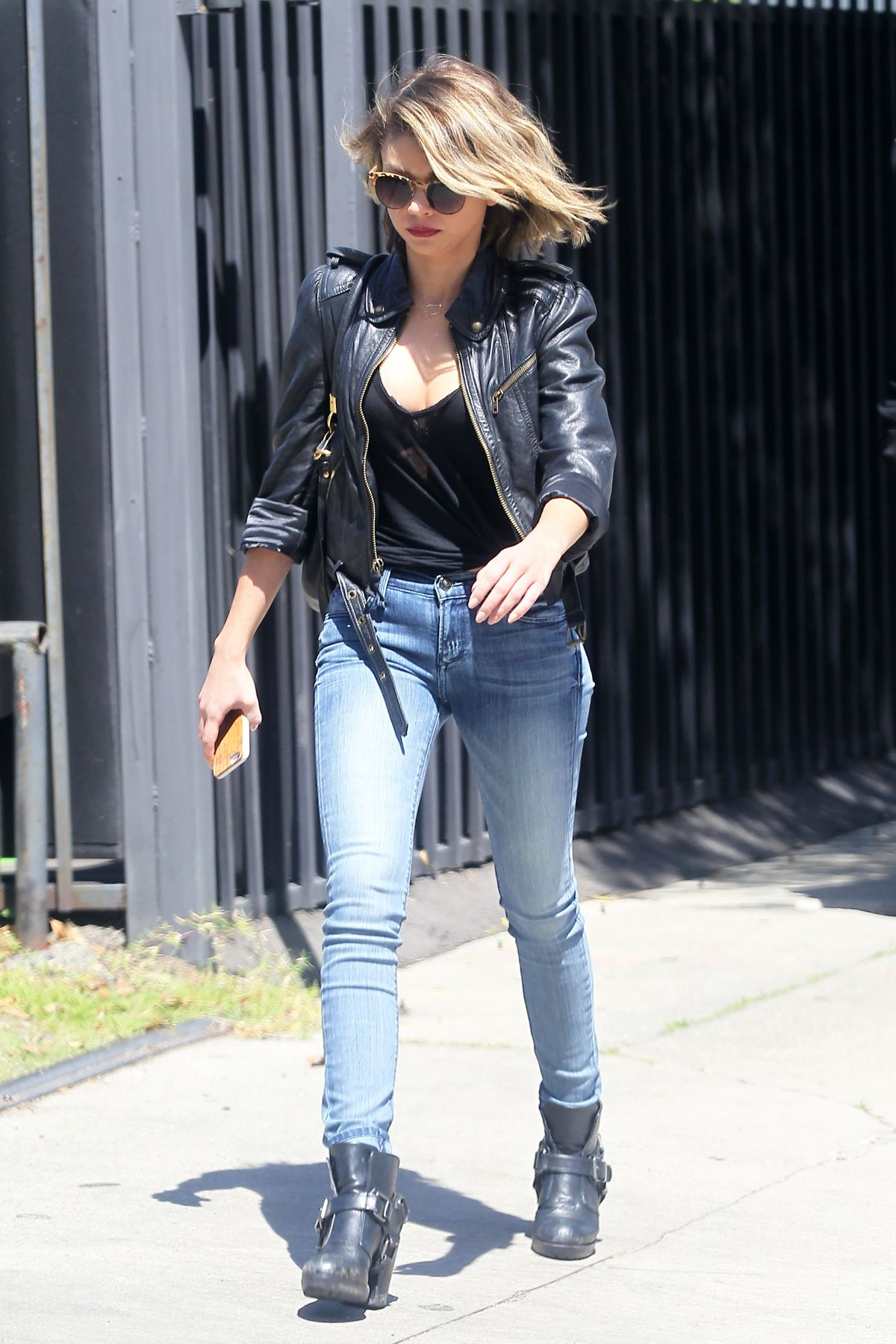 SARAH HYLAND in Jeans Out and About in Los Angeles