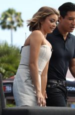 SARAH HYLAND on the Set of Extra in Los Angeles 04/20/2015