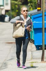 SARAH MICHELLE GELLAR in Spandex Out and About in Los Angeles