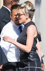SCARLETT JOHANSSON Arrives at Jimmy Kimmel Live! in Hollywood