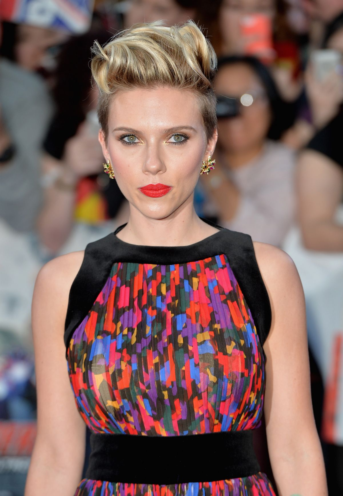 SCARLETT JOHANSSON at Avengers: Age of Ultron Premiere in London