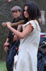 SELENA GOMEZ on the Set of Dubious Battle in Atlanta