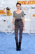 SHAILENE WOODLEY at 2015 MTV Movie Awards in Los Angeles