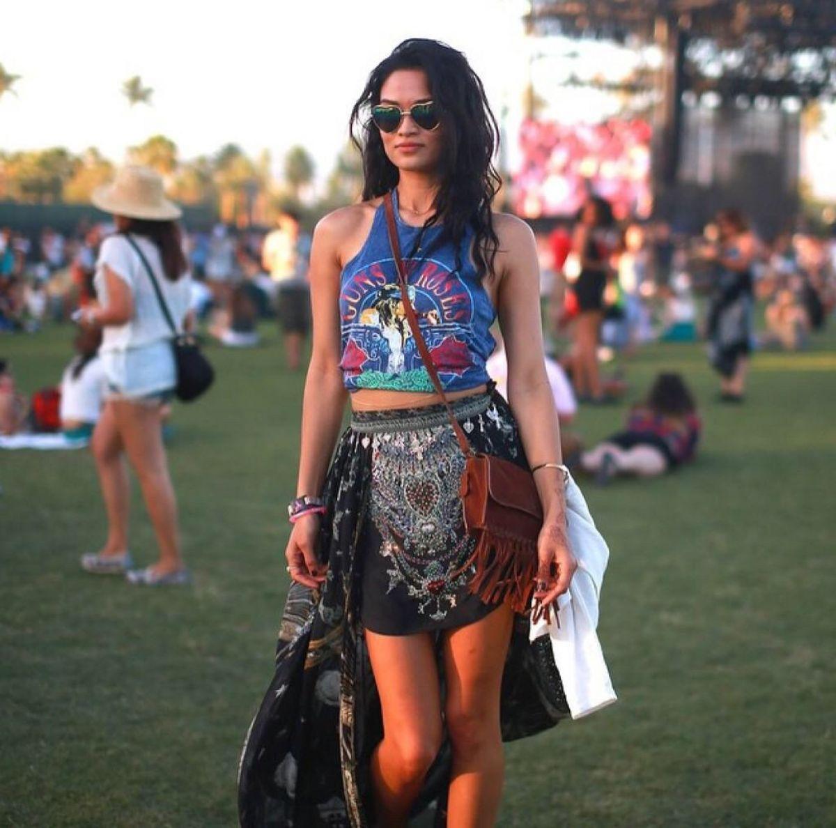 SHANIN SHAIK at 2015 Coachella Music Festival