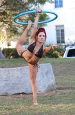 SHARNA BURGESS in Bikini Working Out in Los Angeles