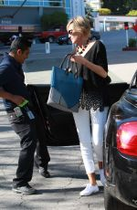 SHARON STONE Arrives at The Sunset Marquis Hotel