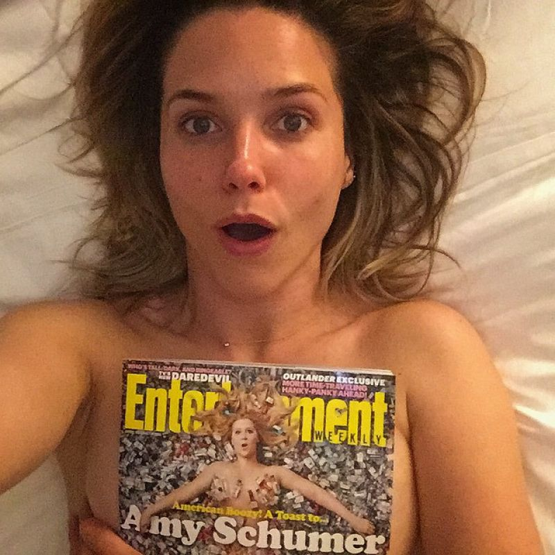 SOPHIA BUSH in Bed with Entertainment Weekly