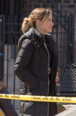 SOPHIA BUSH on the Set of Chicago PD in Chicago