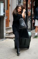 STELLA HUDGENS Out and About in New York 04/14/2015