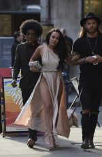 STEPHANIE DAVIS Arrives at Pretty Green Store Launch in Manchester