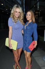 STEPHANIE DAVIS, RHIAN SUGDEN and STEPHANIE WARING at Avalanche Restaurant in Manchester