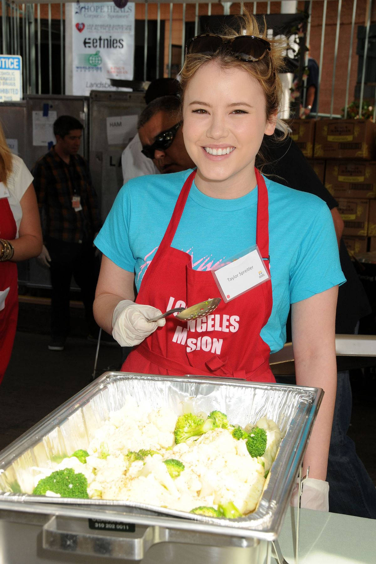 TAYLOR SPREITLER at Los Angeles Mission Easter Event